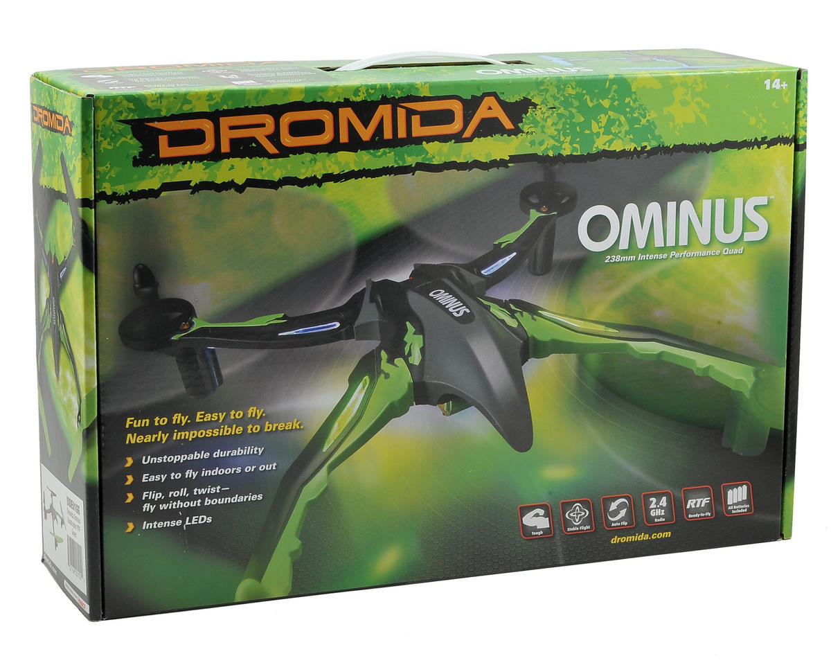 Dromida Ominus UAV RTF Micro Electric Quadcopter Drone (Red/White)