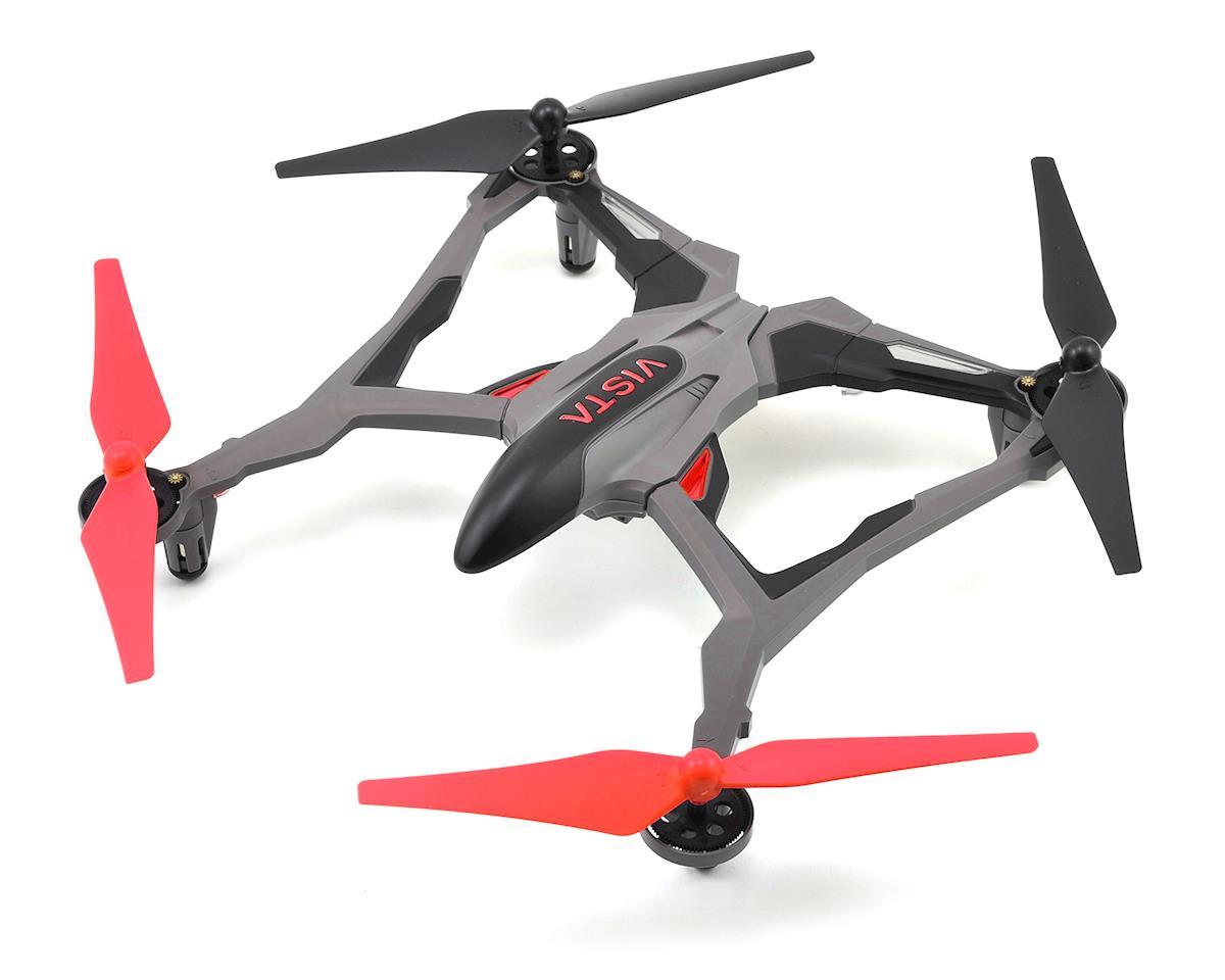 Vista RTF Micro Electric Quadcopter Drone (Red) by Dromida