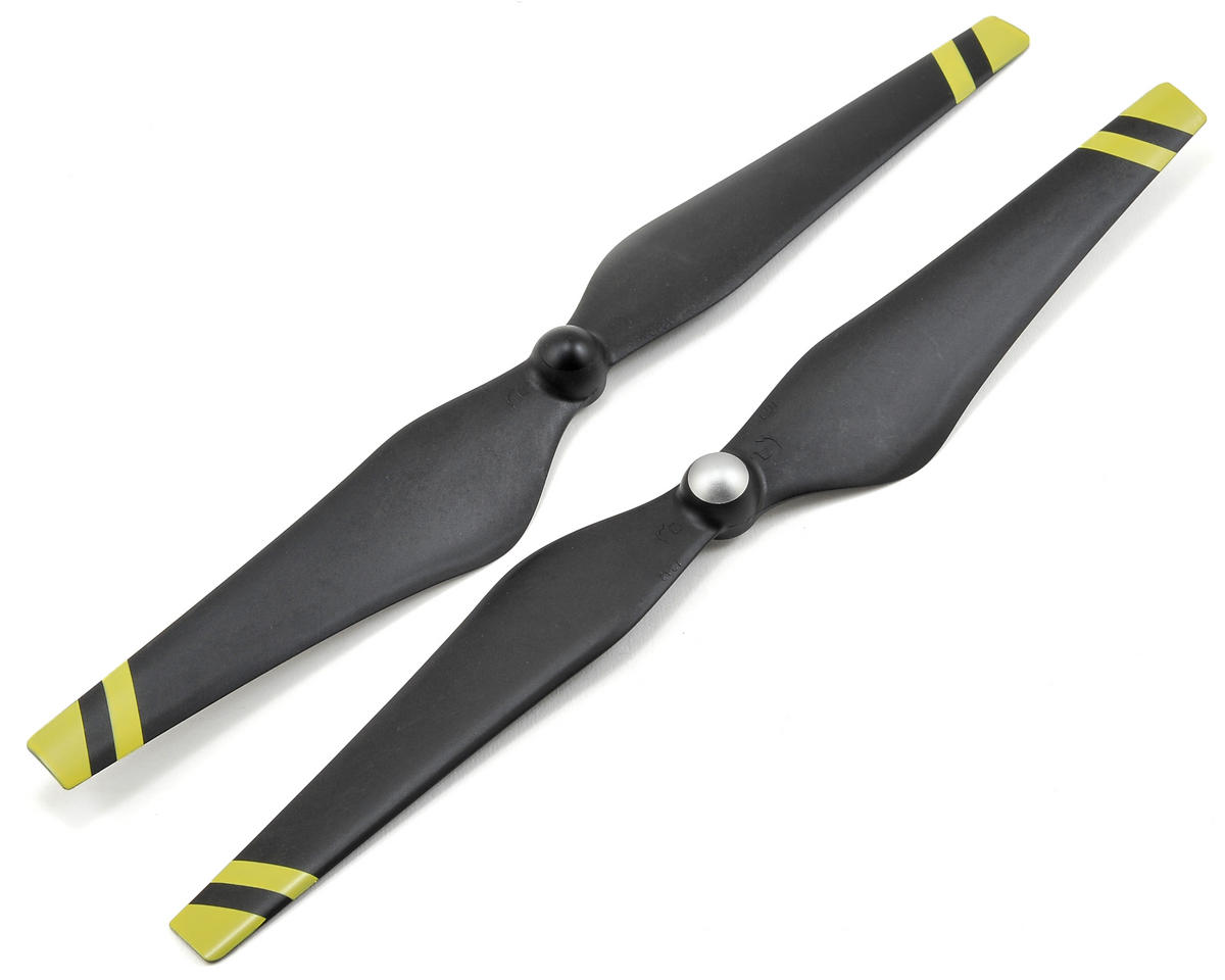 DJI 12x4.2 Carbon Reinforced Self-Tightening Prop (2) (Black w/Yellow Strips)