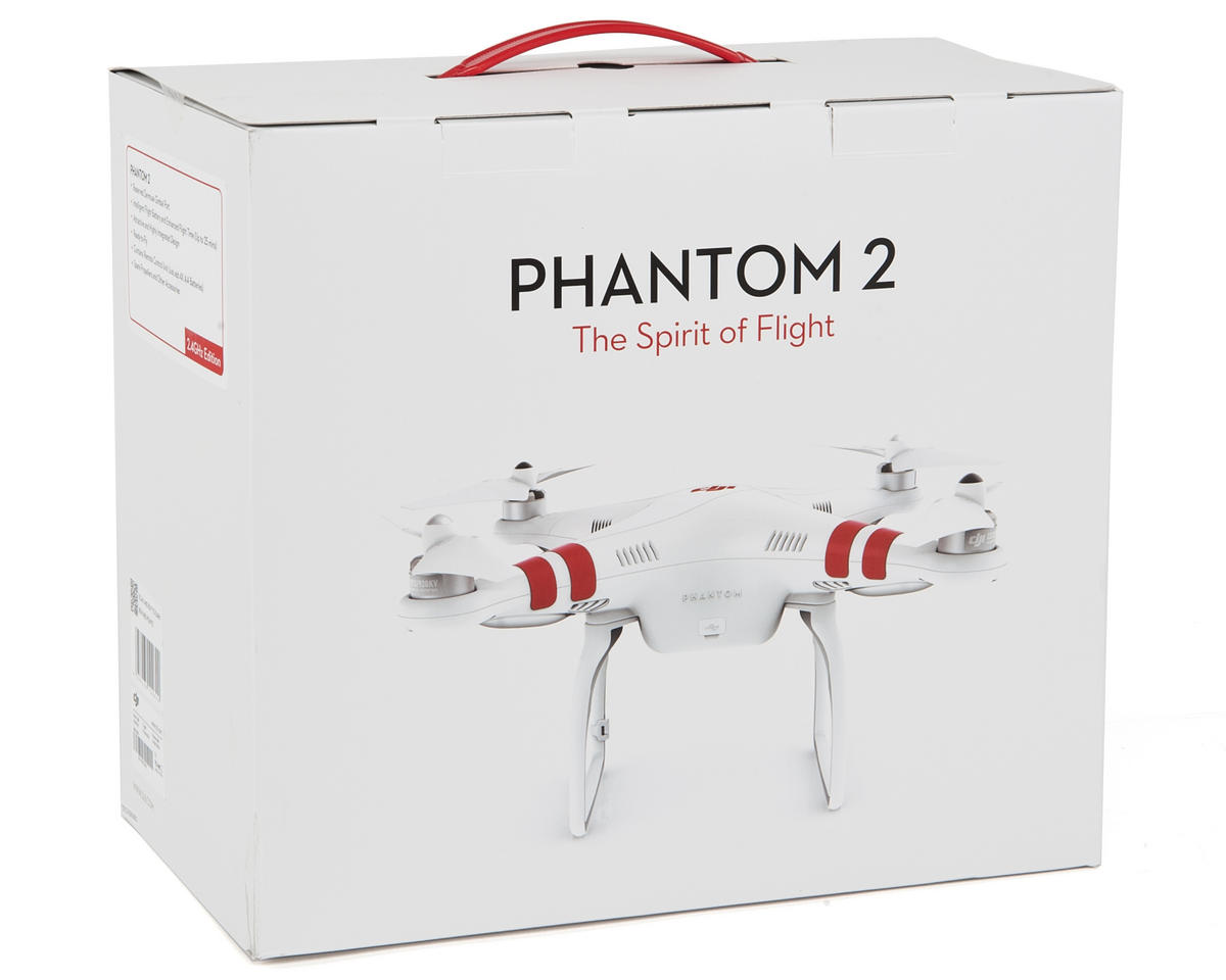 DJI Phantom 2 V2.0 Quadcopter Drone w/2.4GHz Radio, Battery, Charger & H3-3D Gimbal