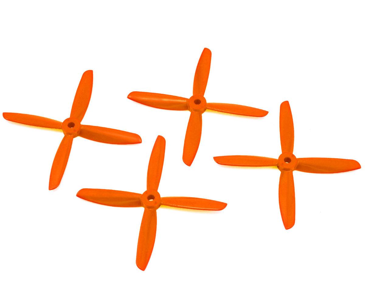 Dal Props Quad Blade 4x4.5x4 Prop (Orange) (2CW & 2CCW)