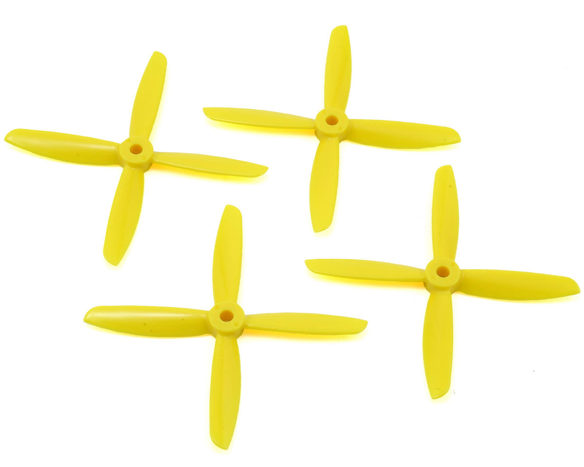 Dal Props Quad Blade 4x4.5x4 Prop (Yellow) (2CW & 2CCW)
