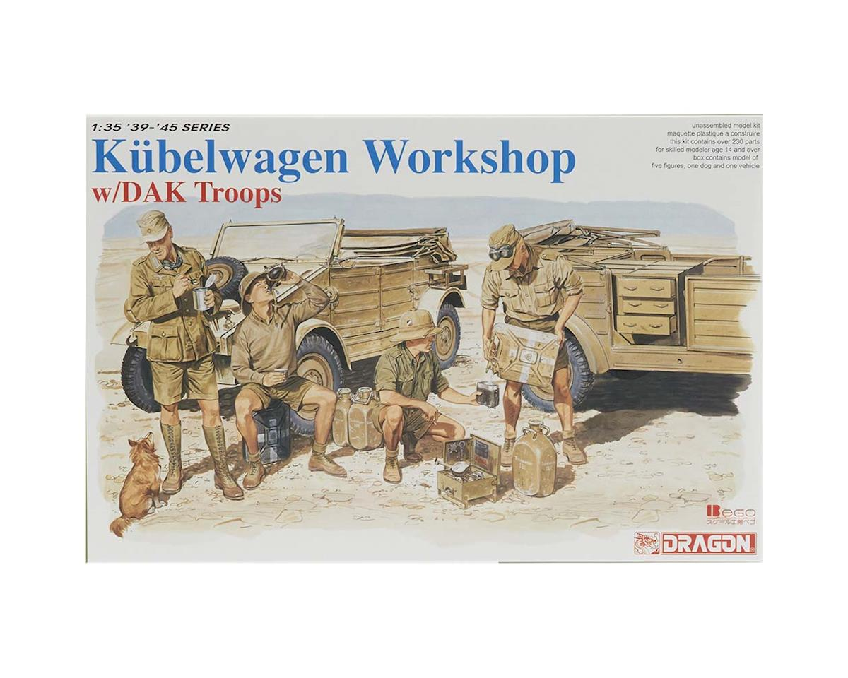 Dragon Models 1/35 Kubelwagen Workshop w/DAK Troops