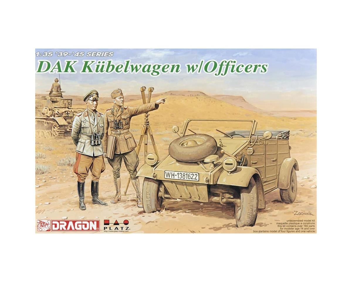 Dragon Models 1/35 Dak Kubelwagen W/Officer Figures