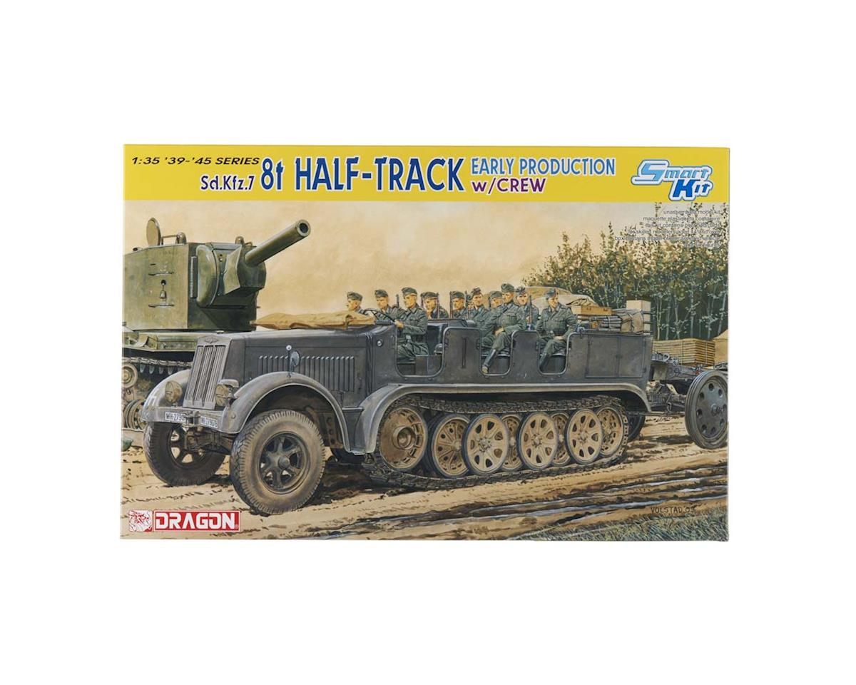 6545 1/35 SdKfz7 8T Halftrack Early Prod w/Riders Smart by Dragon Models