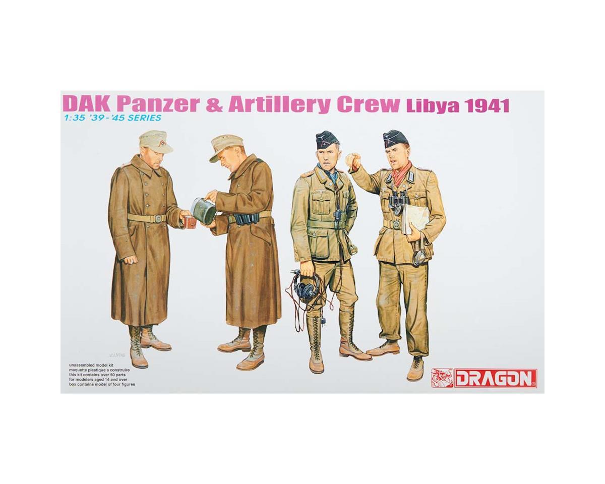 Dragon Models  1/35 Wwii German Dak Panzer/Artillery Crew Libya 1941