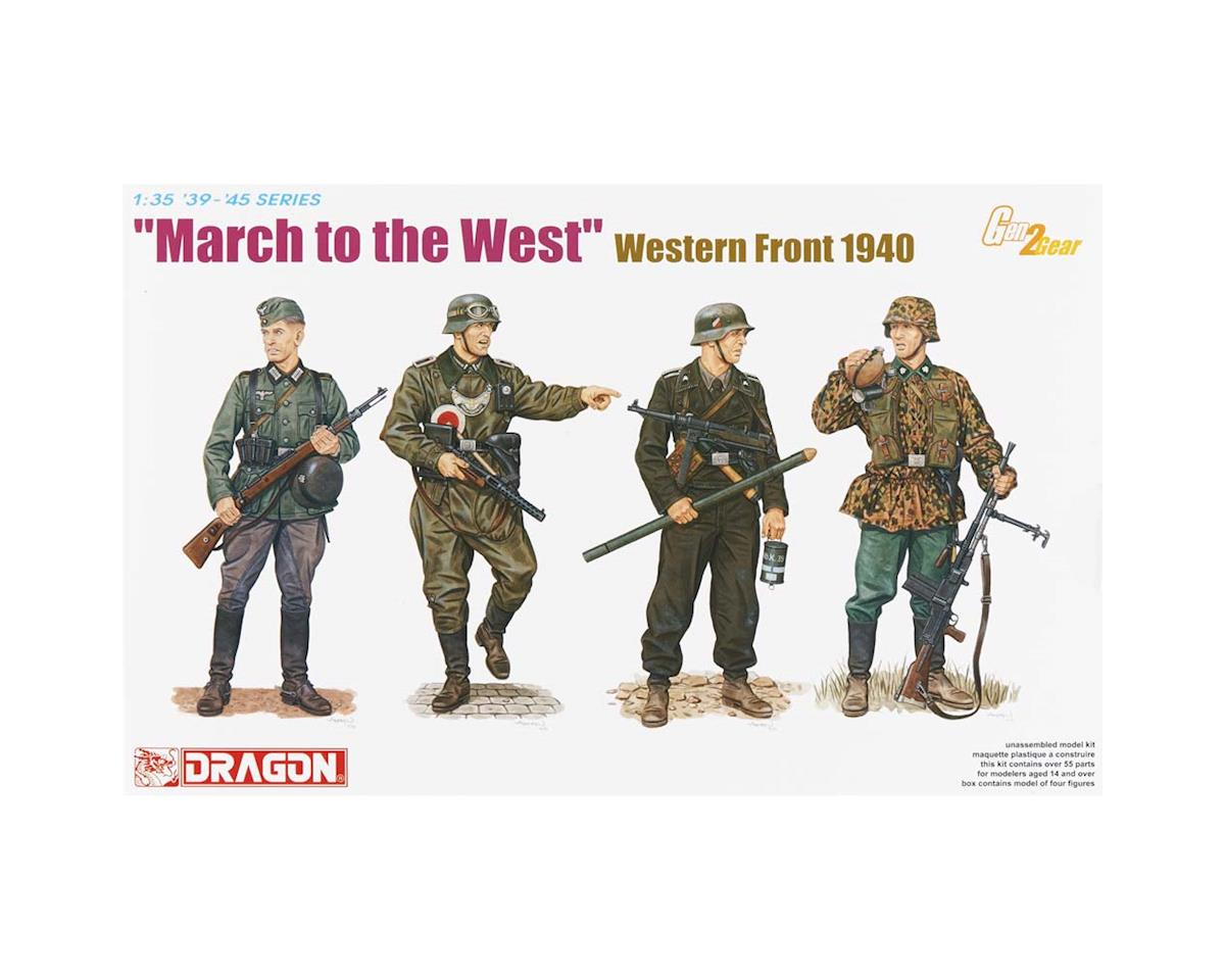 Dragon Models  1/35 Wwii German March To The West Western Front 1940