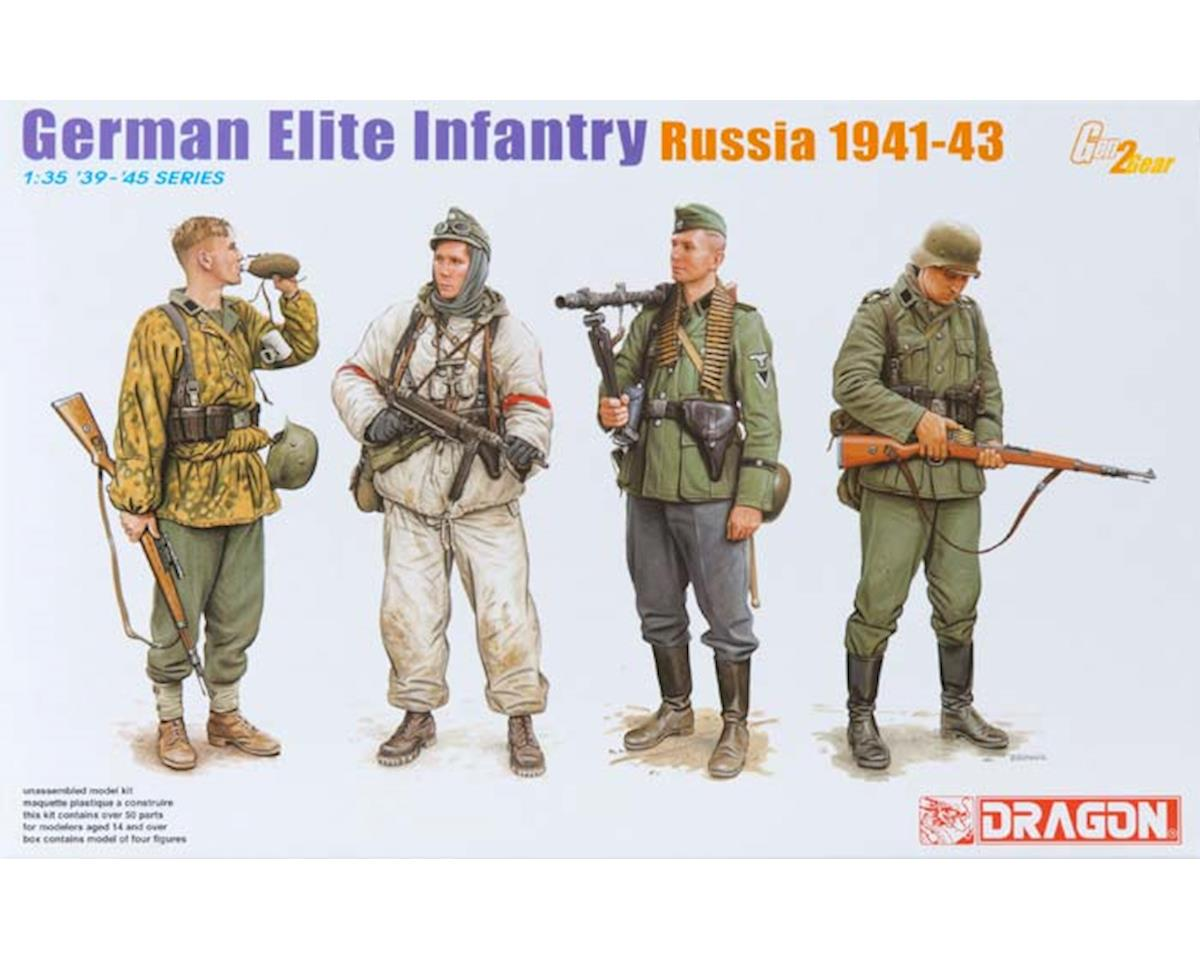 Dragon Models  1/35 Germ Elite Inf, Russia 1941-43 (4 Figure Set)
