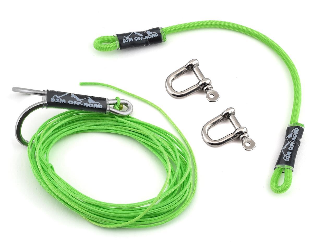 DSM Off-Road Duraline V2 Winch Line Kit (250lb) (Neon Green)