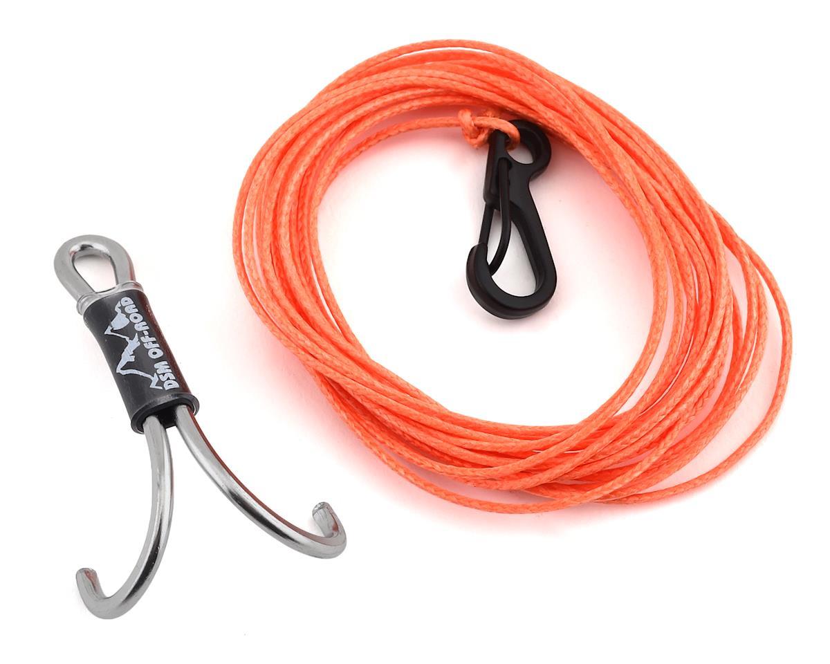 Orange DSM Off-Road 250 LB DURALINE V2 WINCH LINE KIT for Scale RC Crawlers