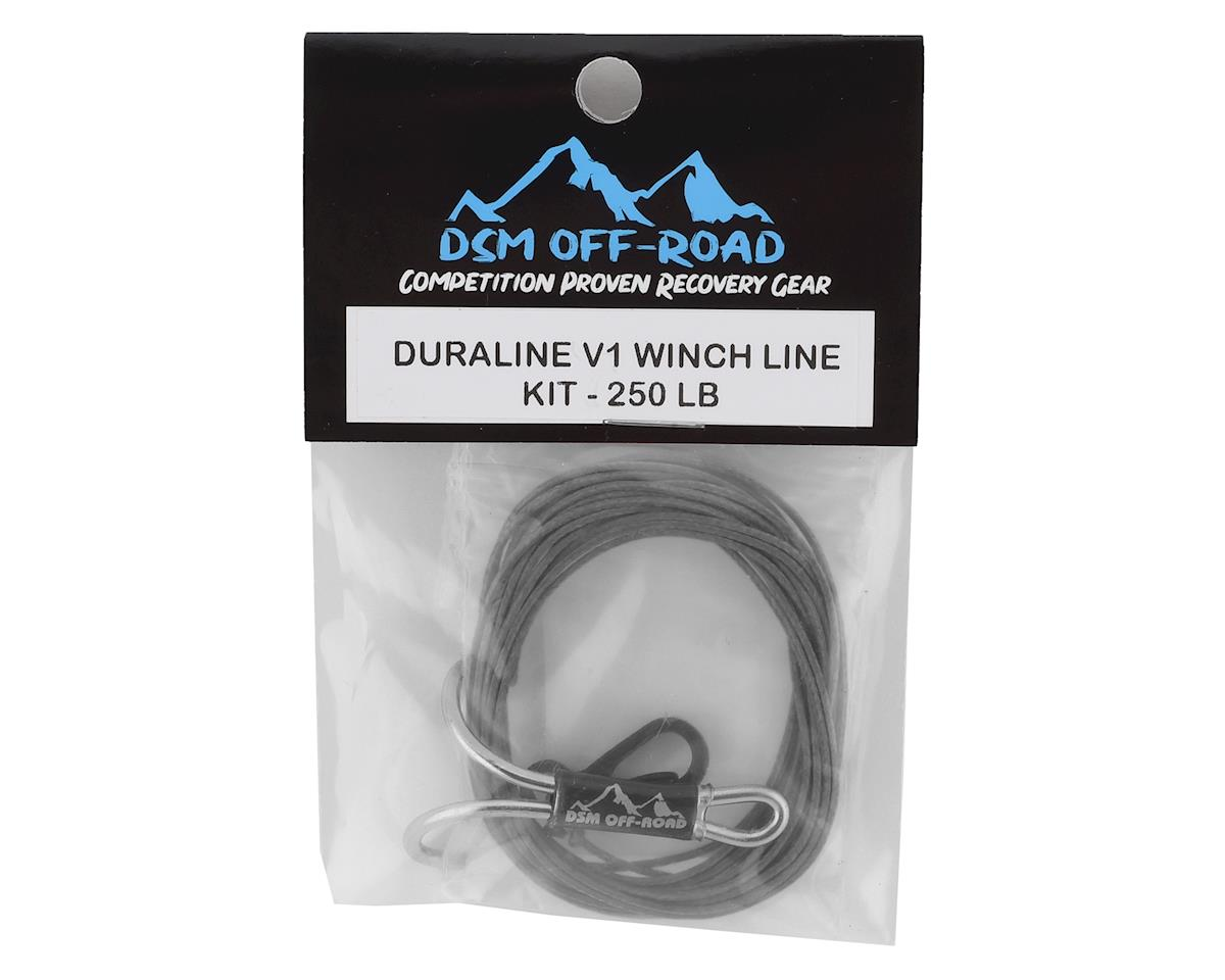 DSM Off-Road 250 LB DURALINE V2 WINCH LINE KIT for Scale RC Crawlers Silver