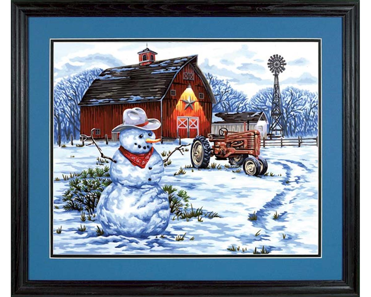 Dimensions 73-91434 Country Snowman PBN