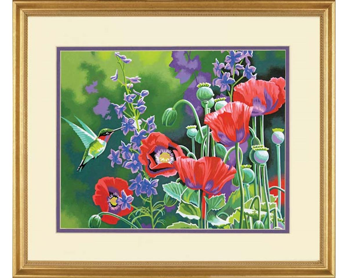 73-91443 Hummingbird and Poppies PBN by Dimensions