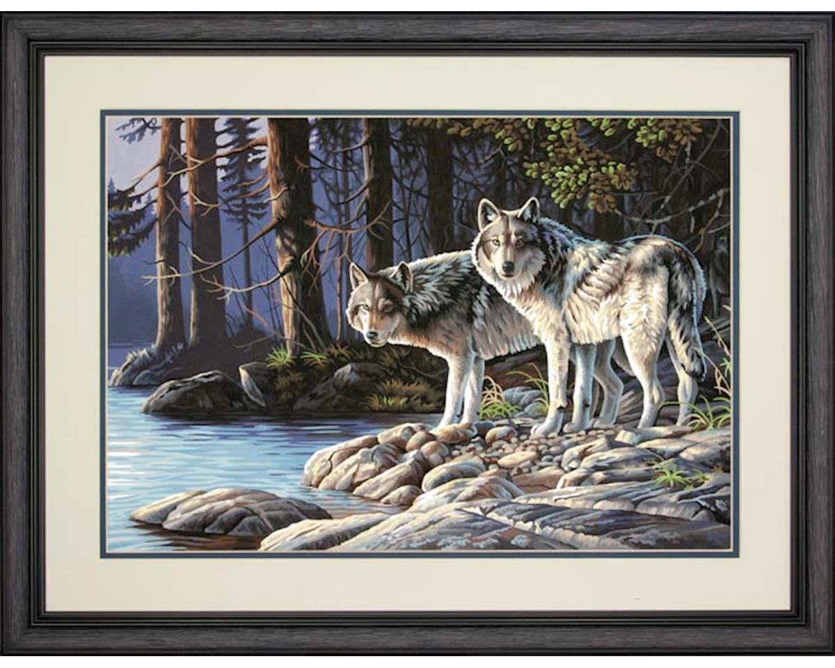 Dimensions 73-91445 Gray Wolves PBN