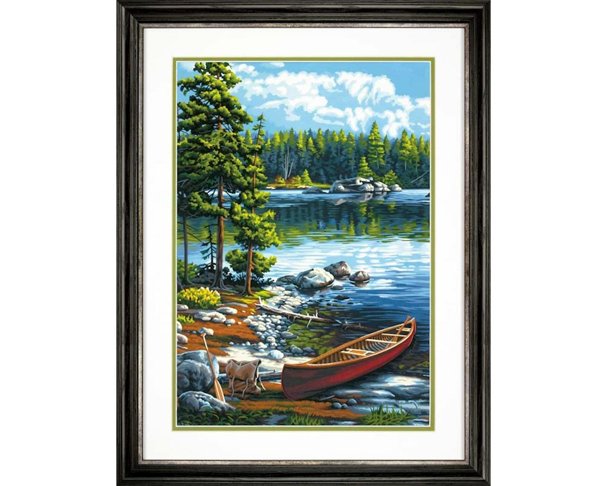 73-91446 Canoe By The Lake PBN by Dimensions