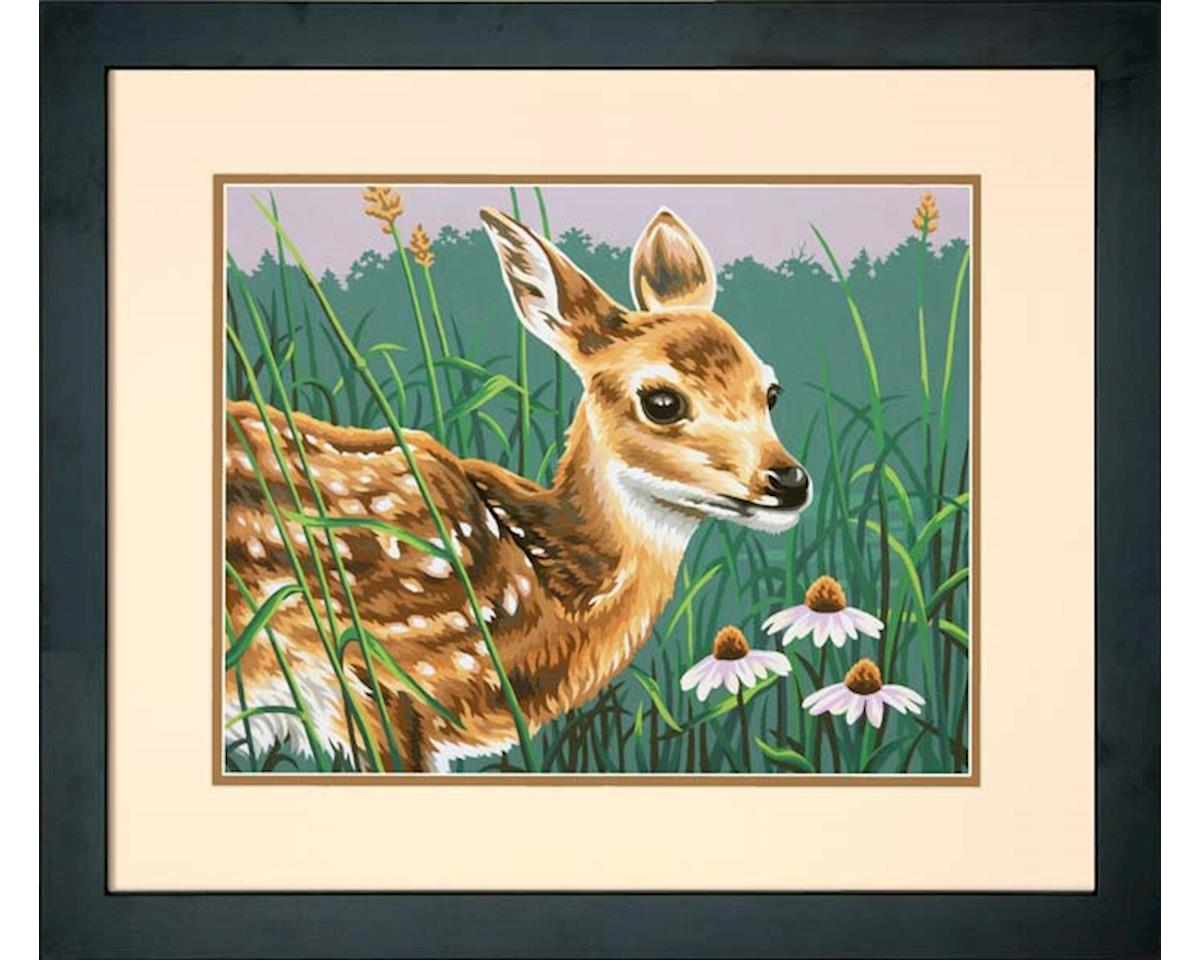 Dimensions 73-91447 Fawn And Flowers PBN