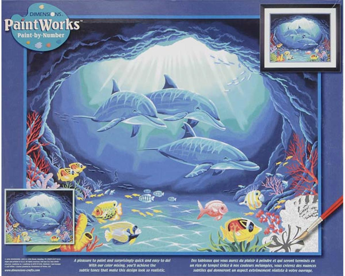 "91302 Deep Sea Paradise PBN 20x16"" by Dimensions"