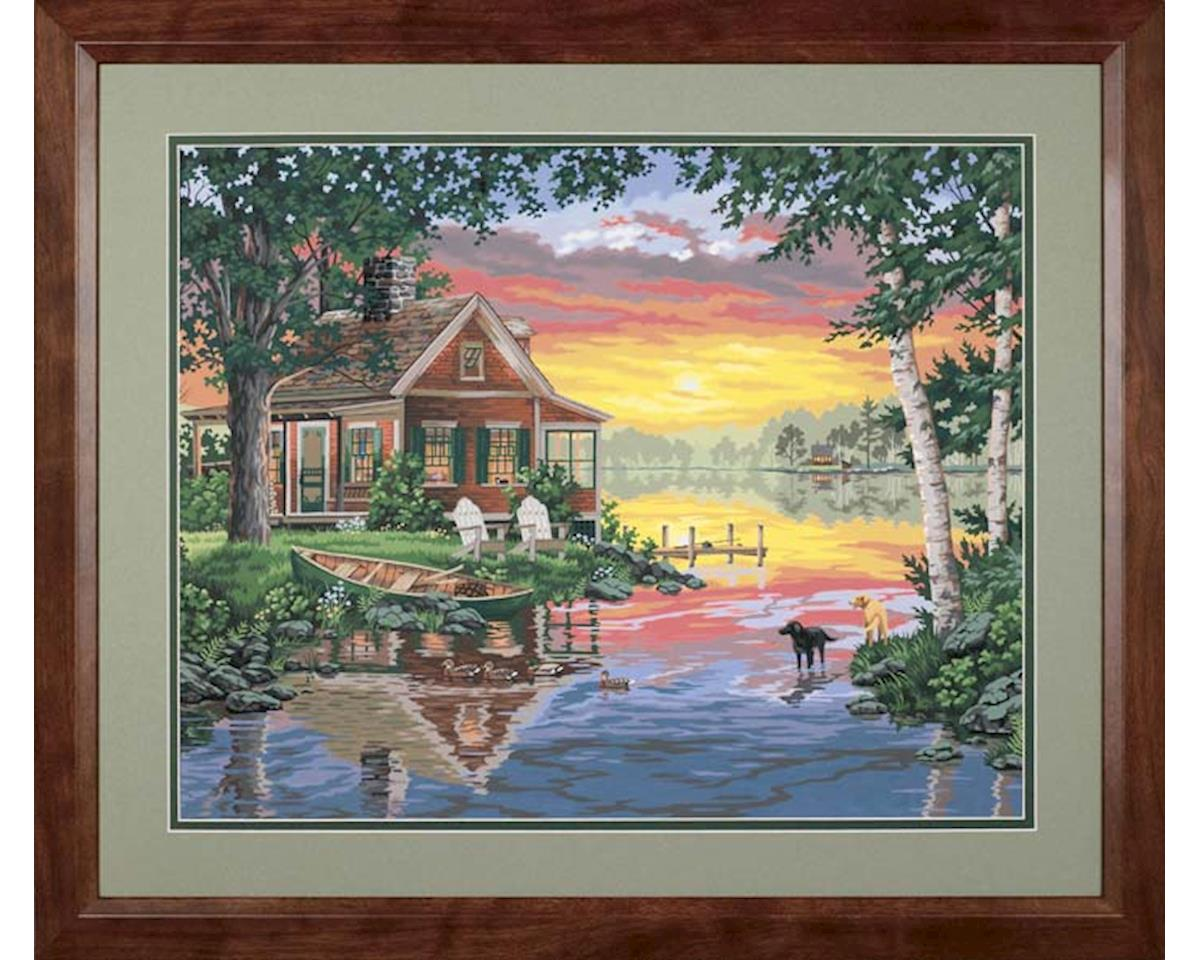 "Paint By Number Sunset Cabin Paintworks 16 X 20"" by Dimensions"