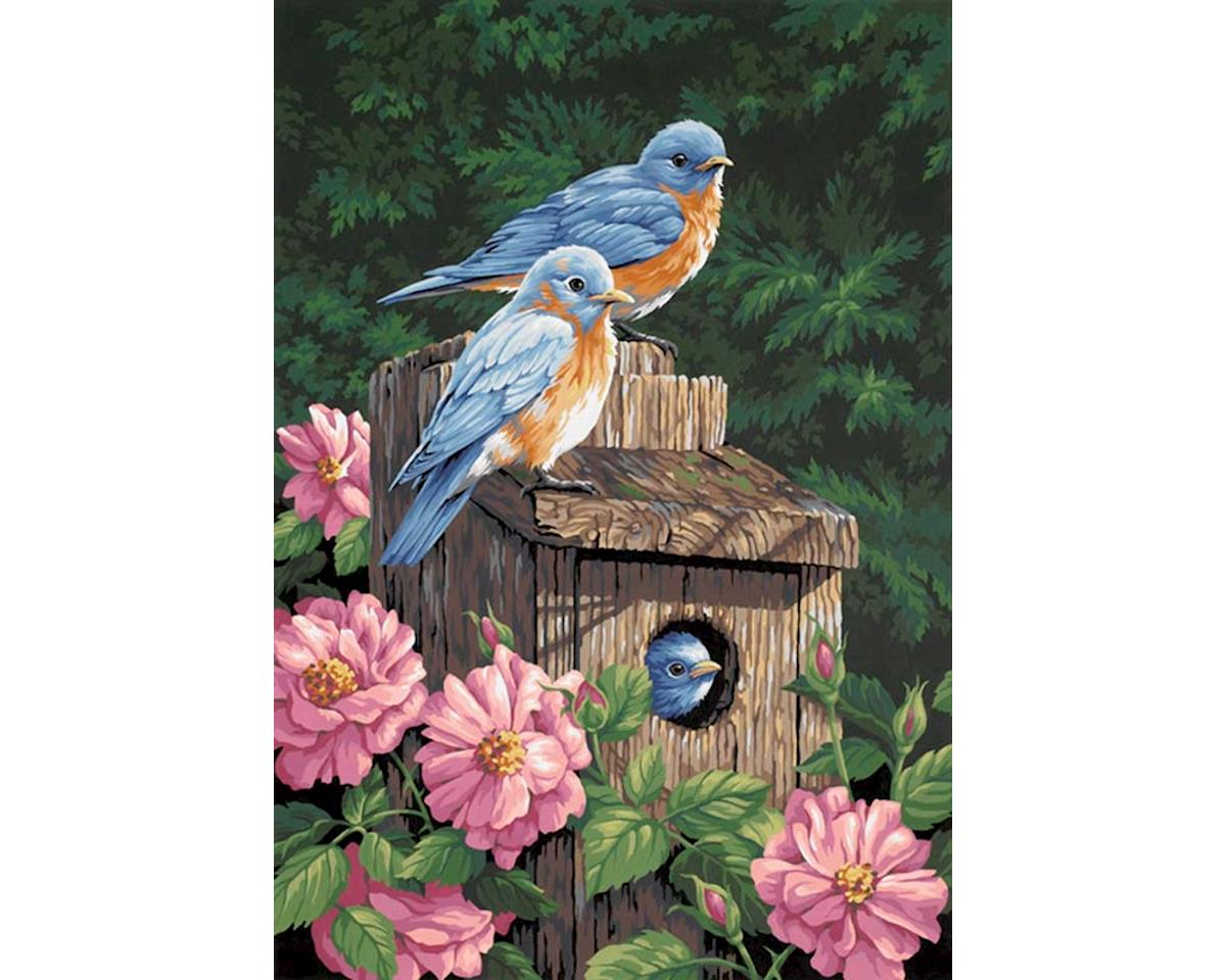 91401 Garden Bluebirds PBN by Dimensions