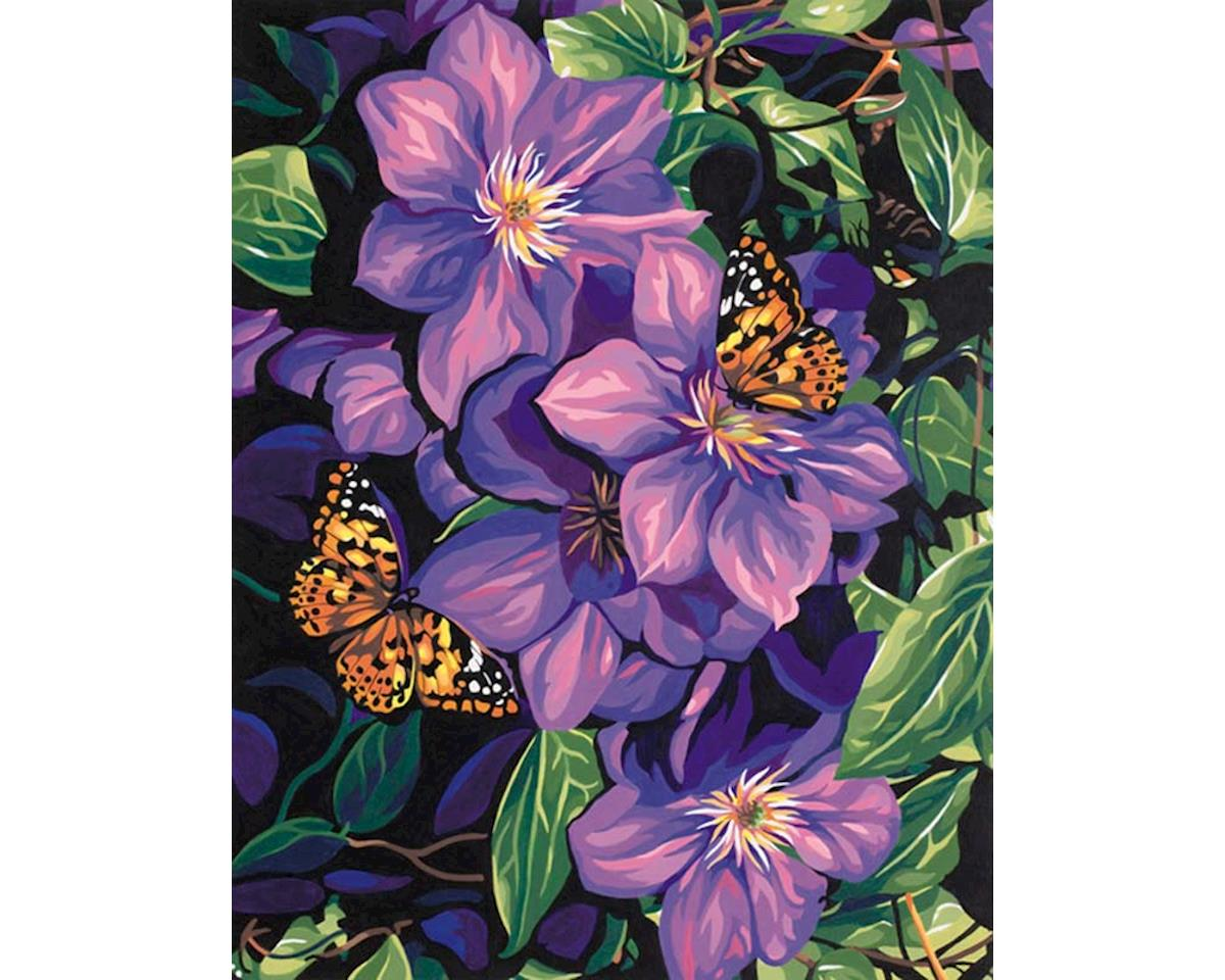 91403 Clematis and Butterflies PBN