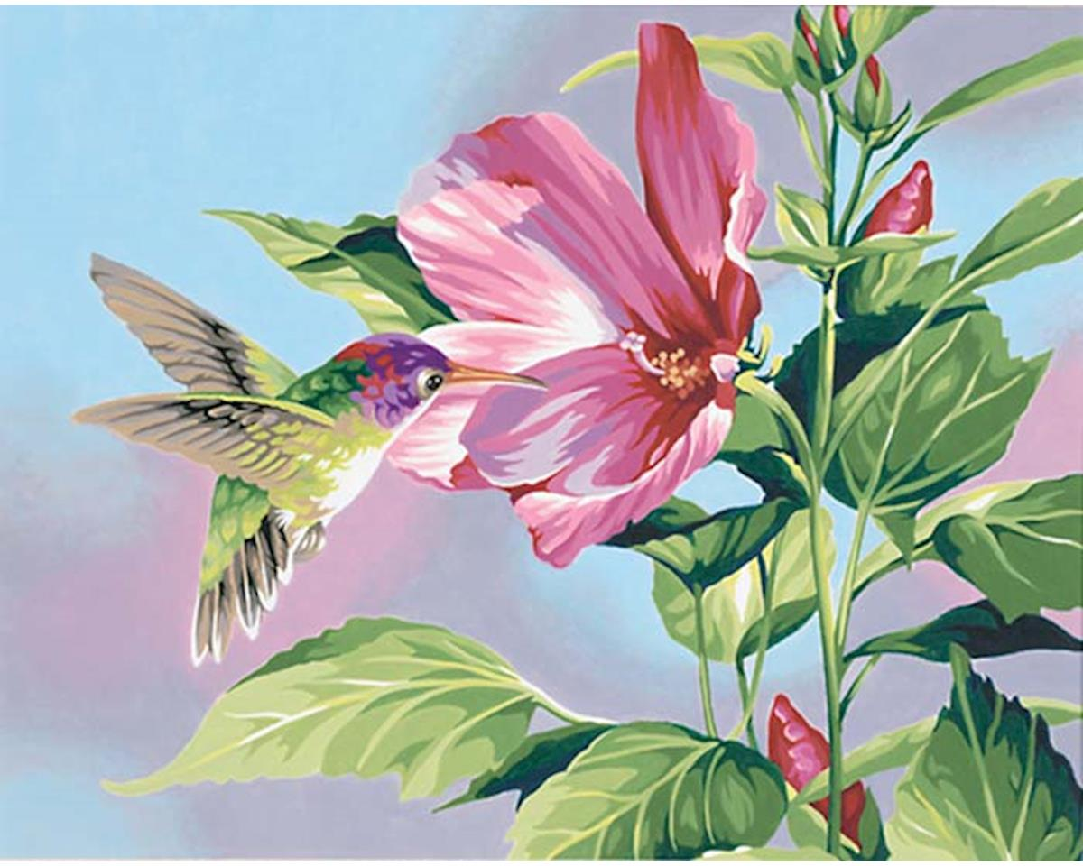 Dimensions 91419 Hibiscus Hummingbird PBN