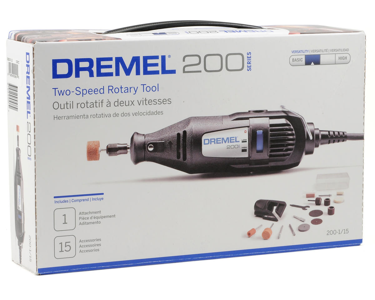 Dremel 200 Series 2 Speed Tool Kit w/15 Accessories