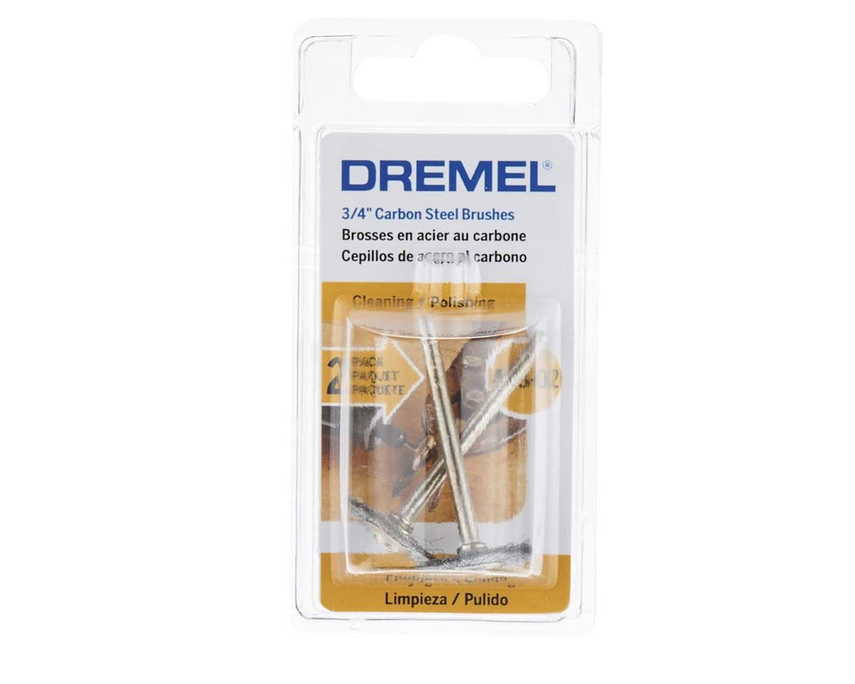 "Dremel 428-02 3/4"" Carbon Steel Brushes (2pk)"