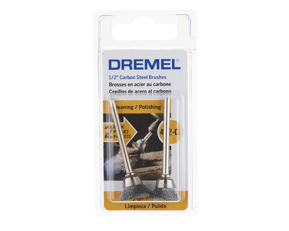 "Dremel 442-02 1/2"" Carbon Steel Brushes (2pk)"