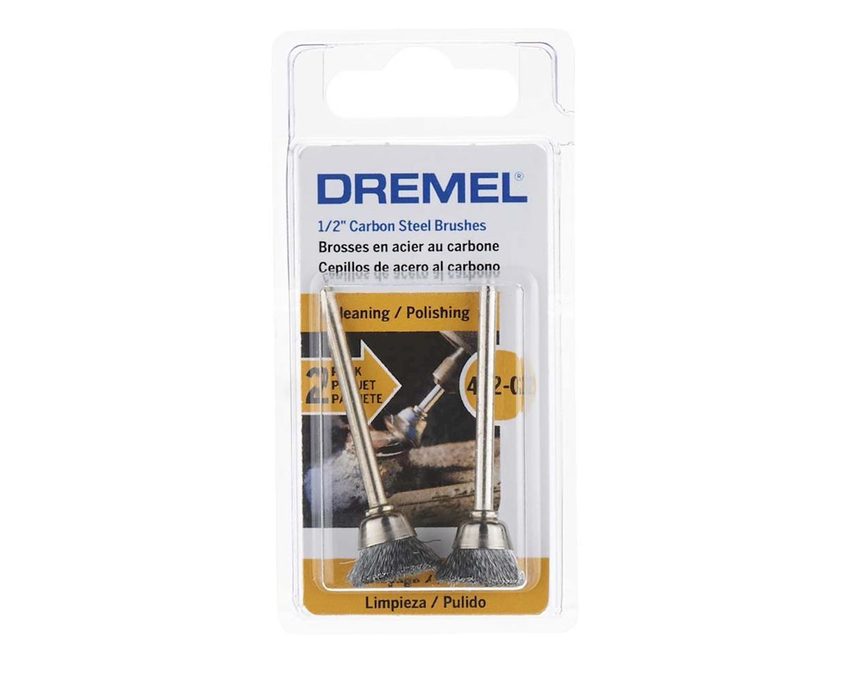 "Dremel 442-02 1/2"" Carbon Steel Brushes (2pk)"