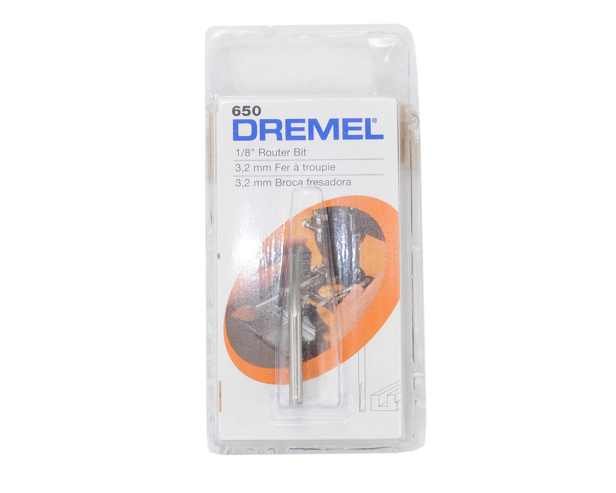 "Dremel 1/8"" Straight Router Bit"