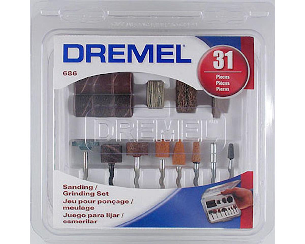 Dremel 686-01 31pc Sanding Grinding Set