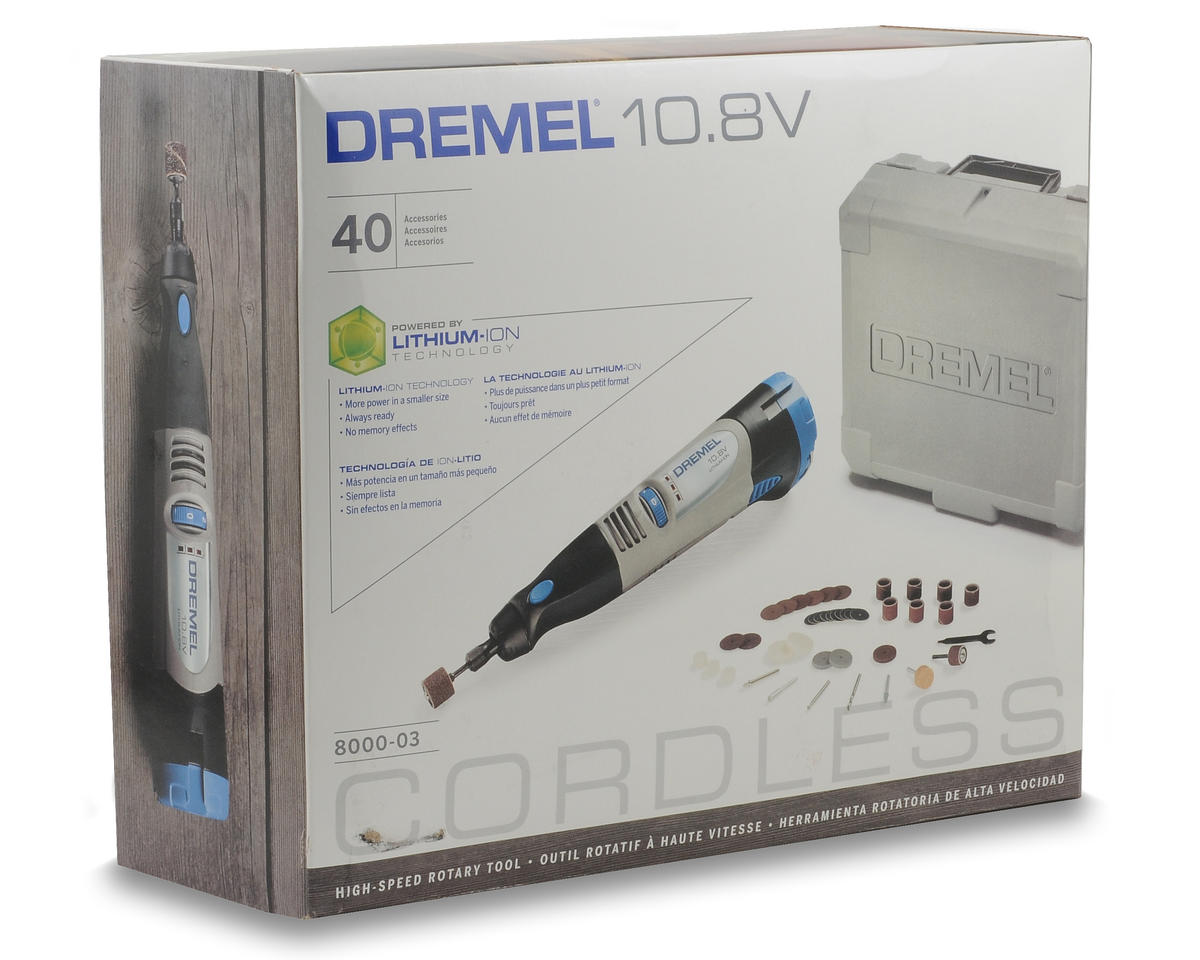 Dremel 10.8V Lithium Ion Cordless Rotary Tool Kit w/40 Accessories