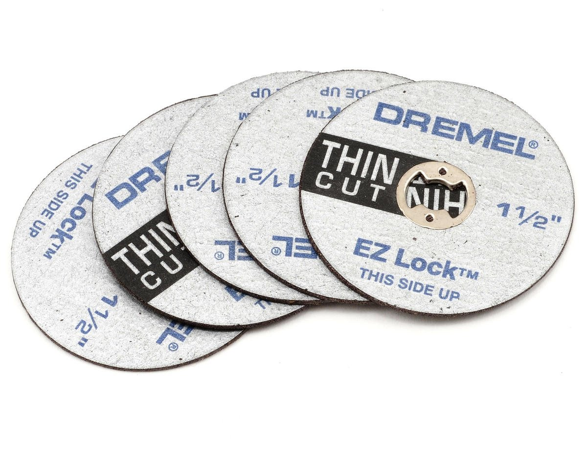 "EZ Lock 1-1/2"" Thin Cut Cut-off Wheels (5) by Dremel"