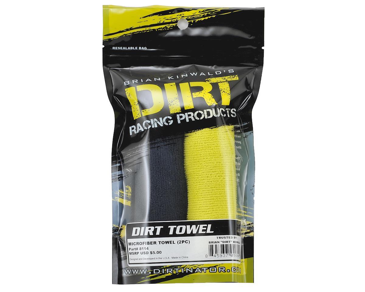 Dirt Racing Microfiber Towel (2) (Black & Yellow)