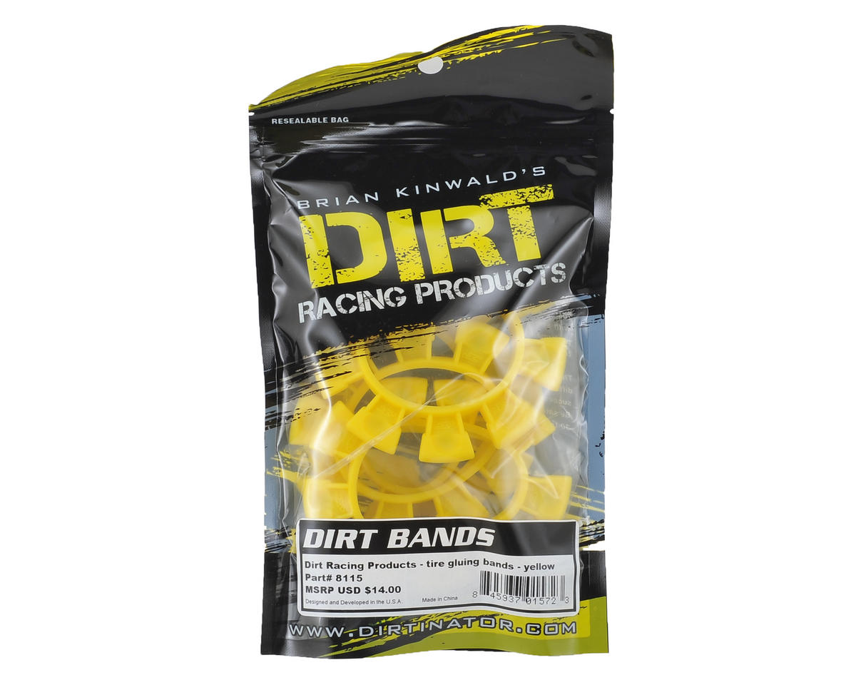 "Dirt Racing ""Dirt Bands"" Tire Glue Bands (Yellow)"