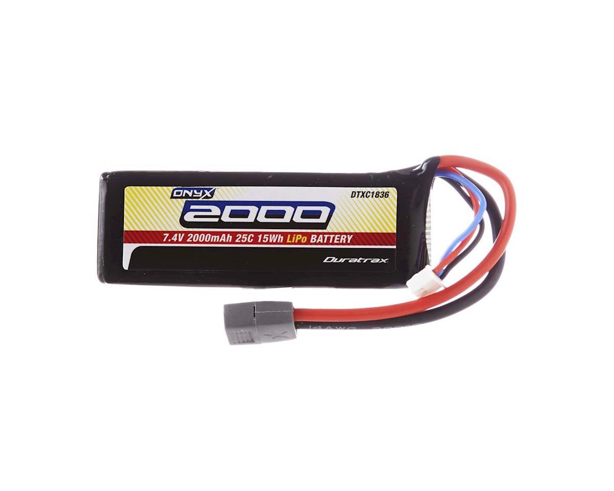 LiPo Onyx 2S 7.4V 2000mAh 25C Soft Case Star Plug by DuraTrax