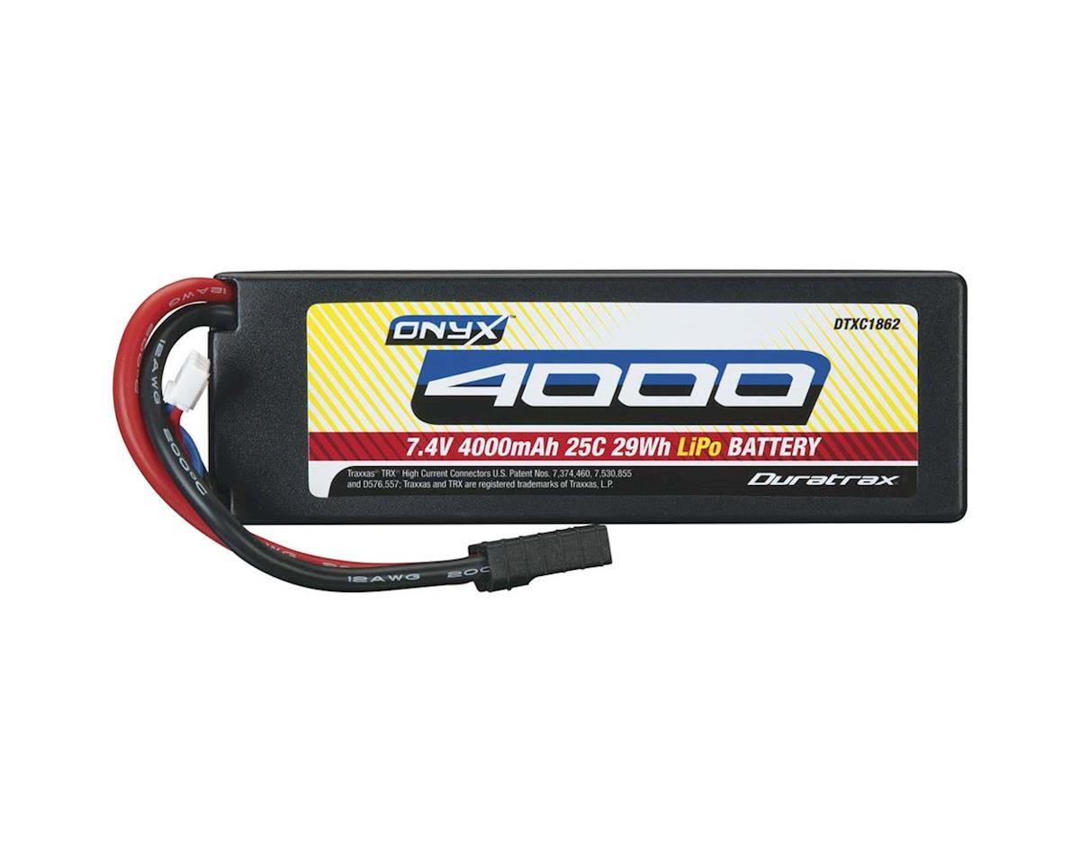 DuraTrax LiPo Onyx 2S 7.4V 4000mAh 25C Hard Case TRA Plug