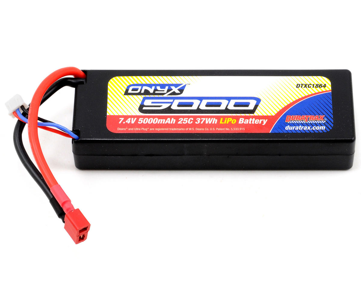 DuraTrax Onyx 2S Hard Case LiPo 25C Battery Pack w/Deans (7.4V/5000mAh)
