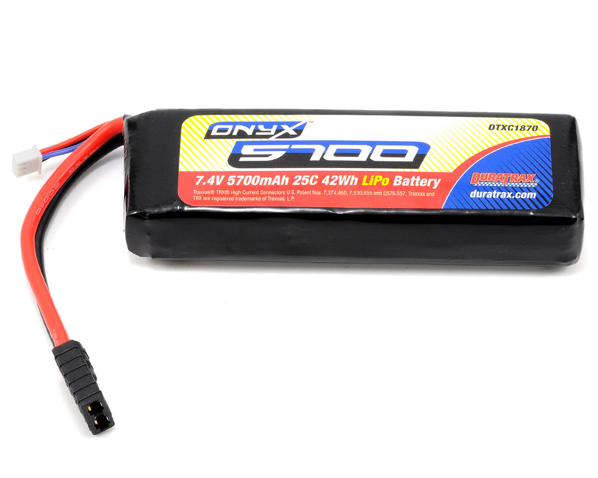 Onyx 2S Li-Poly 25C Battery Pack w/Traxxas Connector (7.4V/5700mAh) by DuraTrax