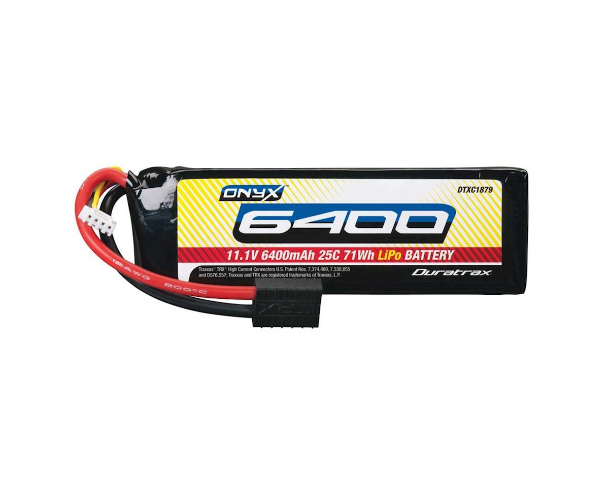 DuraTrax LiPo Onyx 3S 11.1V 6400mAh 25C Soft Case TRA Plug (Traxxas Spartan)