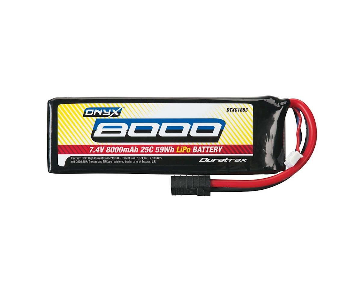 DuraTrax LiPo Onyx 2S 7.4V 8000mAh 25C Soft Case TRA Plug