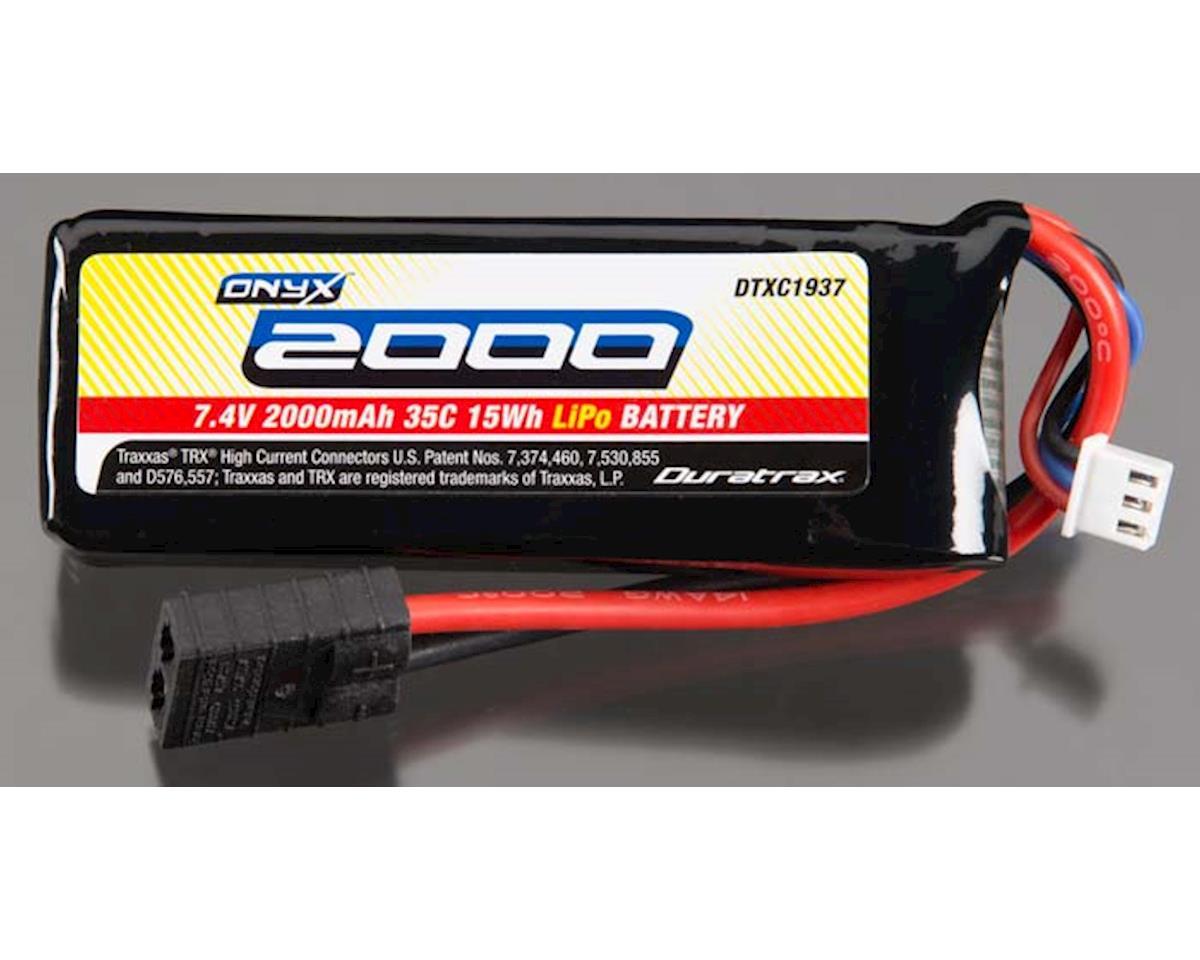 DuraTrax LiPo Onyx 2S 7.4V 2000mAh 35C Soft Case Traxxas