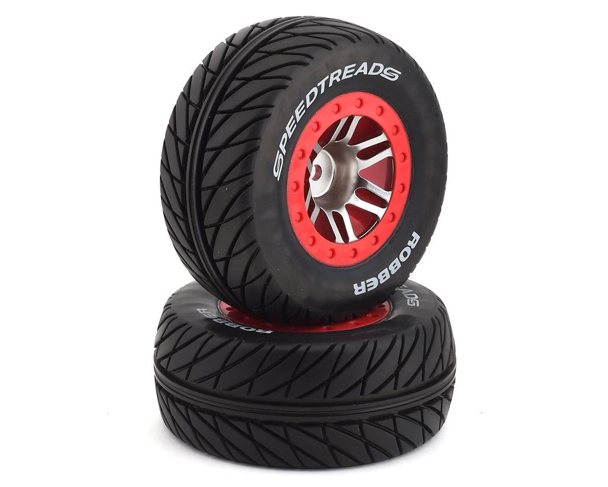 DuraTrax MTD SpeedTreads Robber SC Pre-Mounted 1/10 Short Course Truck Tires (2)