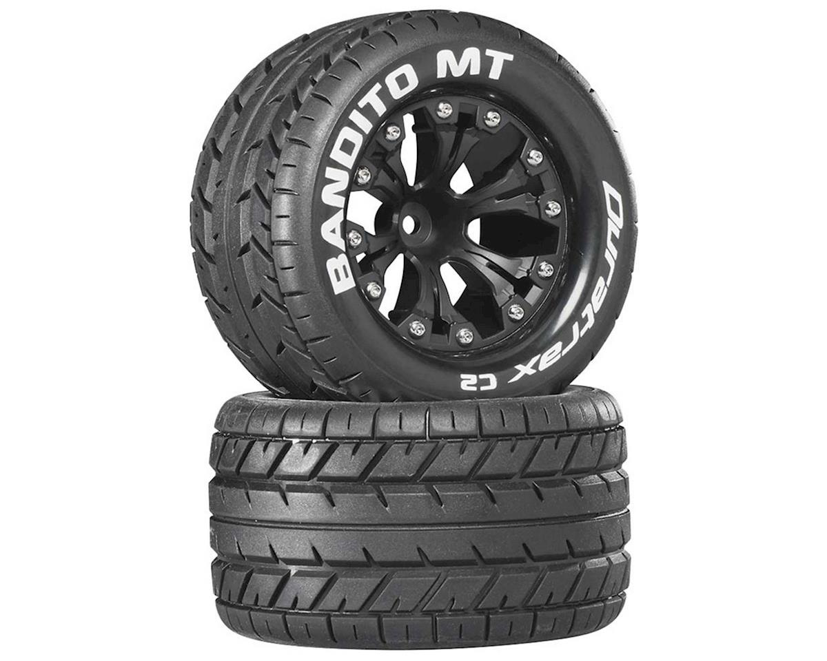 "Bandito MT 2.8"" Mounted Nitro Rear Truck Tires (Black) (2) (1/2 Offset) by DuraTrax"