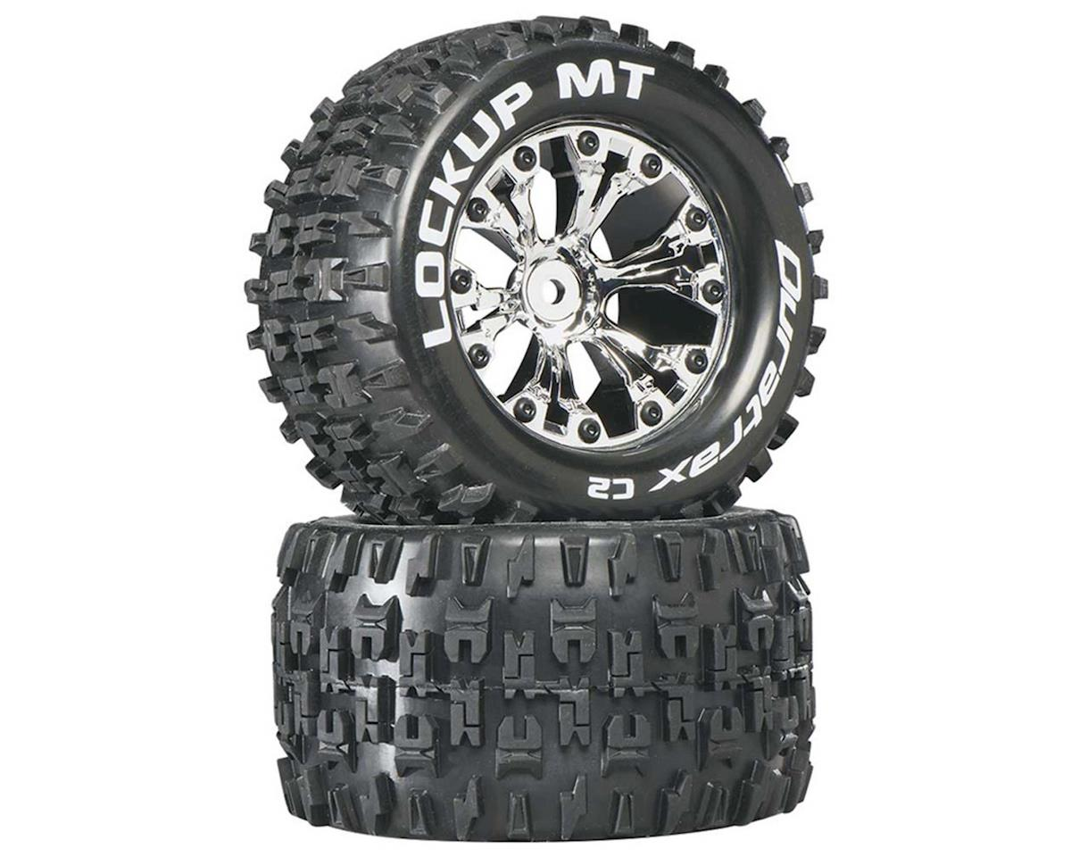 "DuraTrax Lockup MT 2.8"" 2WD Mounted Rear C2 Tires (Chrome) (2) 