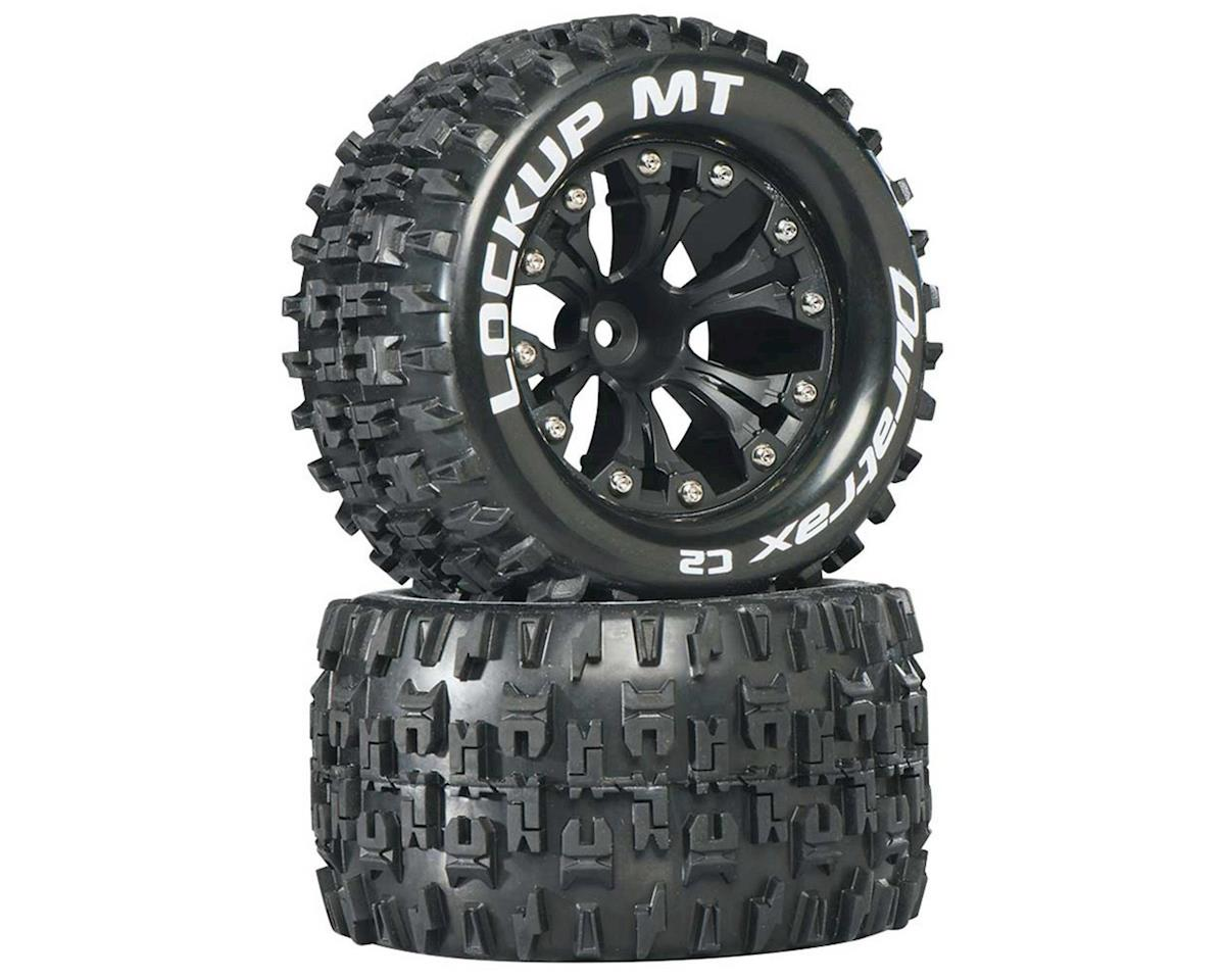"Lockup MT 2.8"" 2WD Front Mounted Truck Tires (Black) (2) (1/2"" Offset) by DuraTrax"
