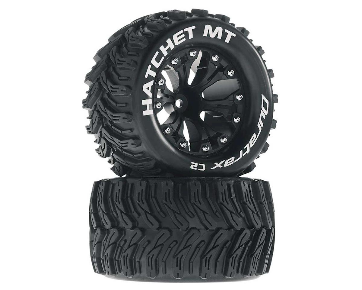 """Hatchet MT 2.8"""" 2WD Front Mounted Truck Tires (Black) (2) (1/2 Offset) by DuraTrax"""