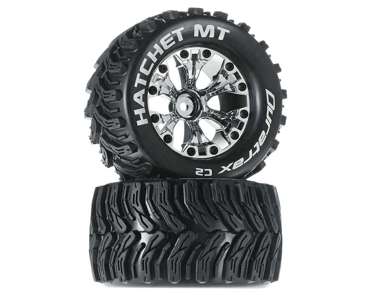 "DuraTrax Hatchet Monster Truck 2.8"" Mounted Offset Tires (Chrome)(2)"
