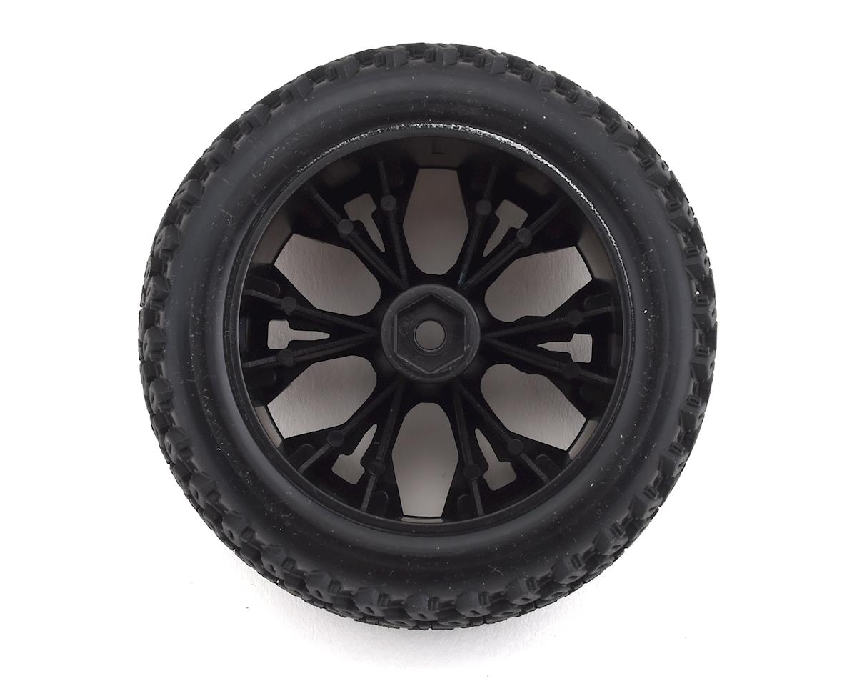 """DuraTrax Picket ST 2.8"""" Mounted Rear Truck Tires (Black) (2) (C2 - Soft)"""