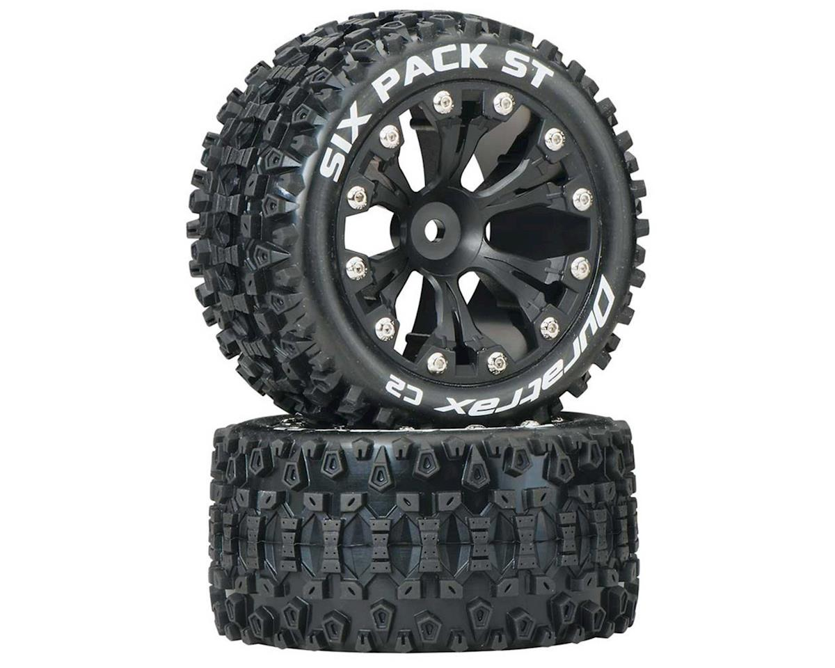 "DuraTrax Sixpack ST 2.8"" 2WD Rear Mounted Truck Tires (Black) (2)"